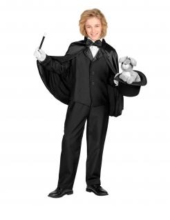 Zauberer Umhang, Magier, für Kinder, schwarz, 60 cm