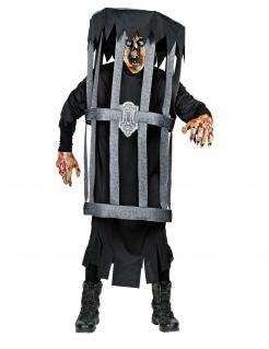 Käfig-Kostüm originelles Halloween-Kostüm schwarz-grau