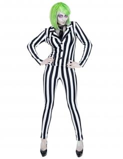 Miss Beetle Geister-Kostüm für Damen Film-Kostüm für Halloween schwarz-weiß