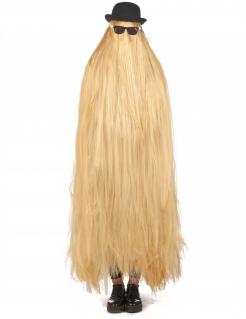 Haariges Gothic-Familienmitglied Horrorfilm-Kostüm Halloween 3-teilig blond-schwarz
