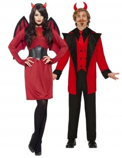 Teufel-Paarkostüm König und Königin der Hölle Halloween