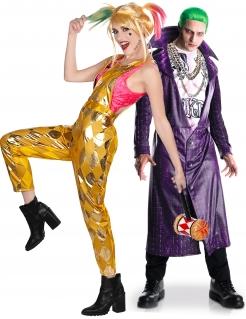 Harley Quinn™ und Joker™ Birds of Prey™-Paarkostüm gold-pink-lila