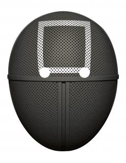 Wächter-Maske Quadrat Pappmaske schwarz-weiss