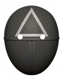 Wächter-Maske Dreieck Pappmaske schwarz-weiss