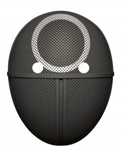 Pappmaske Kreis schwarz-weiss