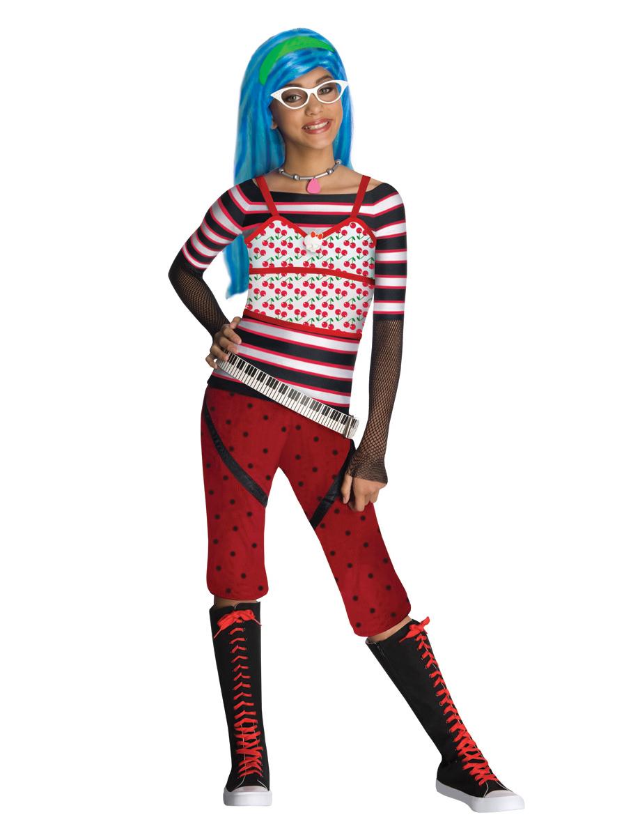 Monster High Kostüm Für Mädchen Ghoulia Yelps Lizenzkostüm Schwarz