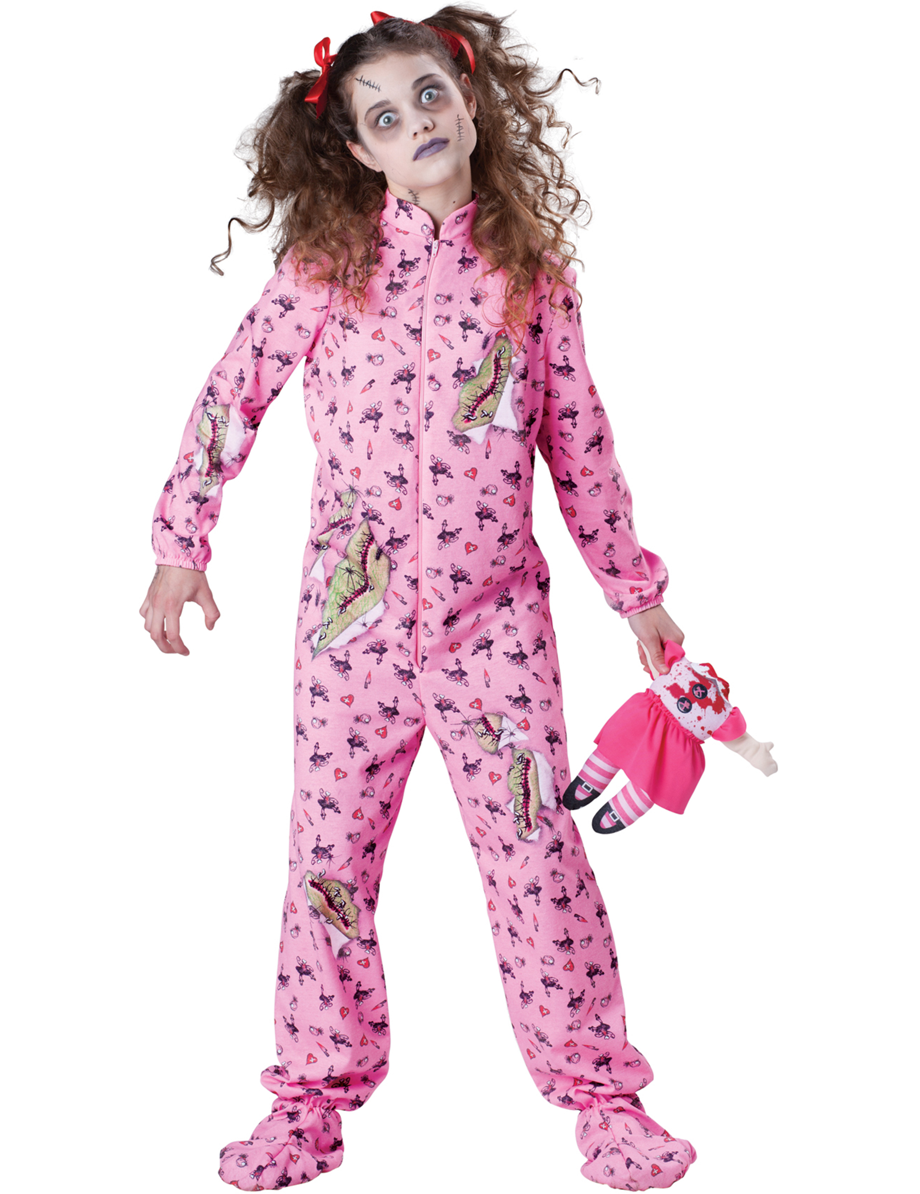 a158dda3373b30 Zombie-Schlafanzug Halloween Kinderkostüm pink-bunt , günstige ...