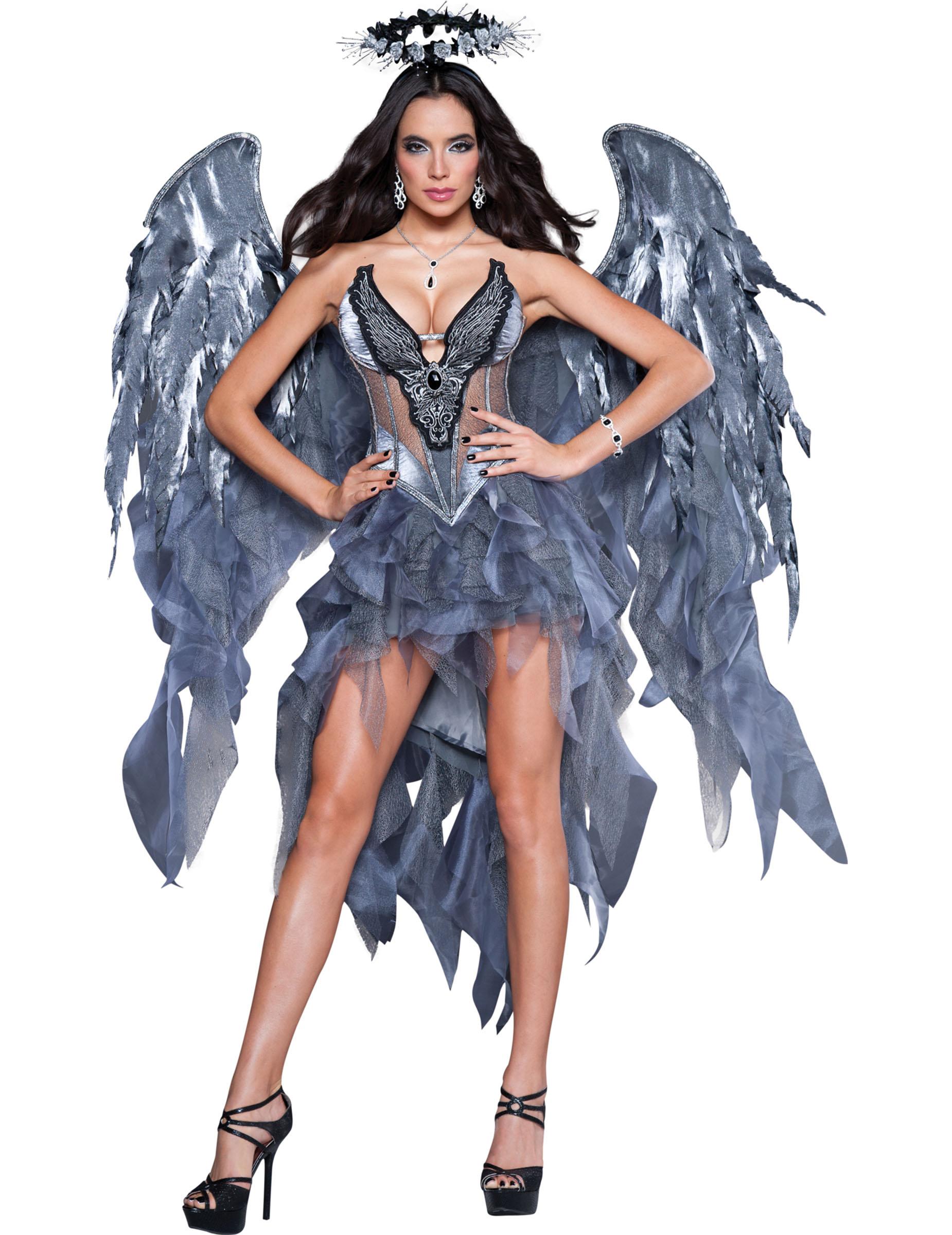 1616e6a9c0882 Höllischer Engel Halloween Kostüm für Damen silber-blau