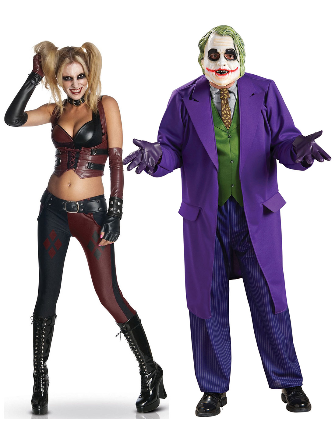 Verkleidungs Set Für Paare Joker Harley Quinn Bunt