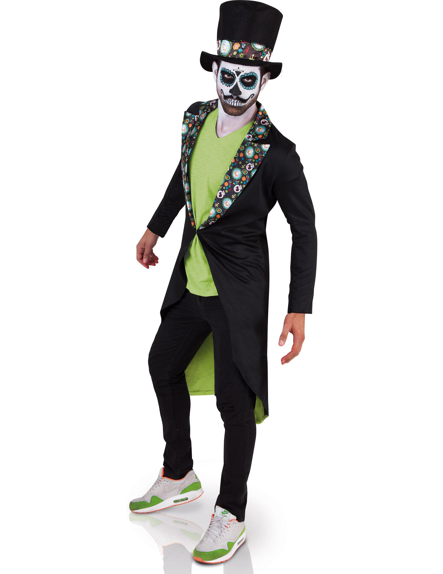 Dia de los Muertos Skelett Gentleman Halloween Herrenkostüm bunt