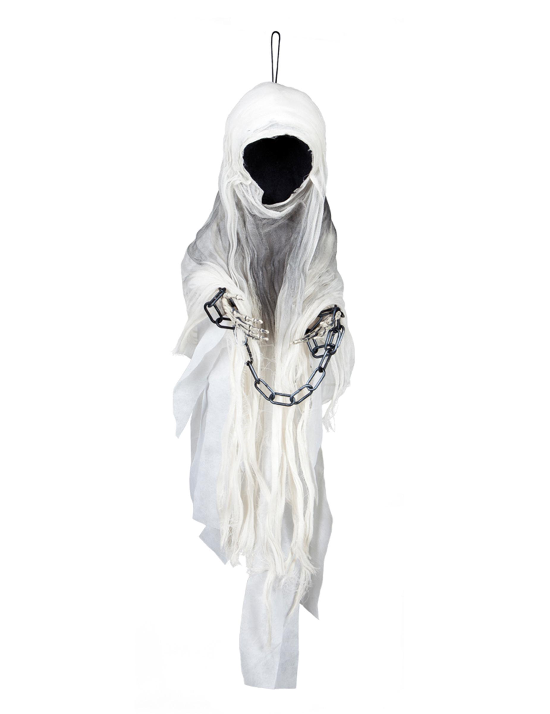 Gesichtsloser Geist Halloween Deko Weiss Schwarz 100cm Gunstige Halloween Partydeko Bei Horrorklinik