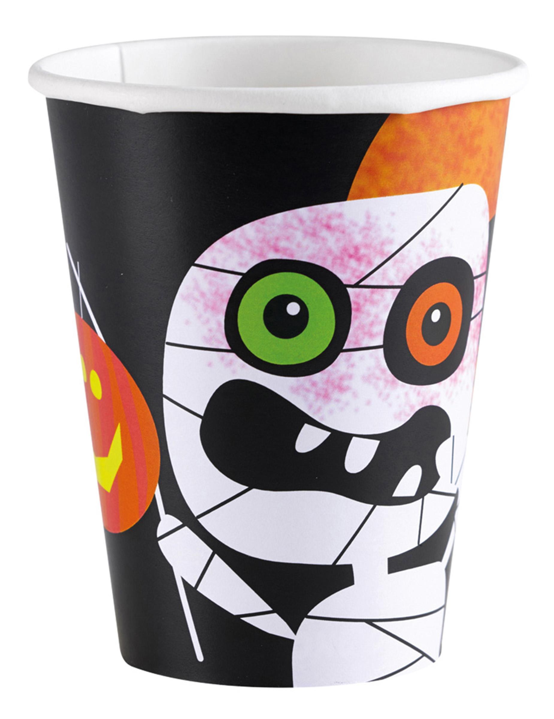 Halloween Pappbecher Grusel Deko Fur Kinder 8 Stuck Bunt 266ml Gunstige Halloween Partydeko Bei Horrorklinik
