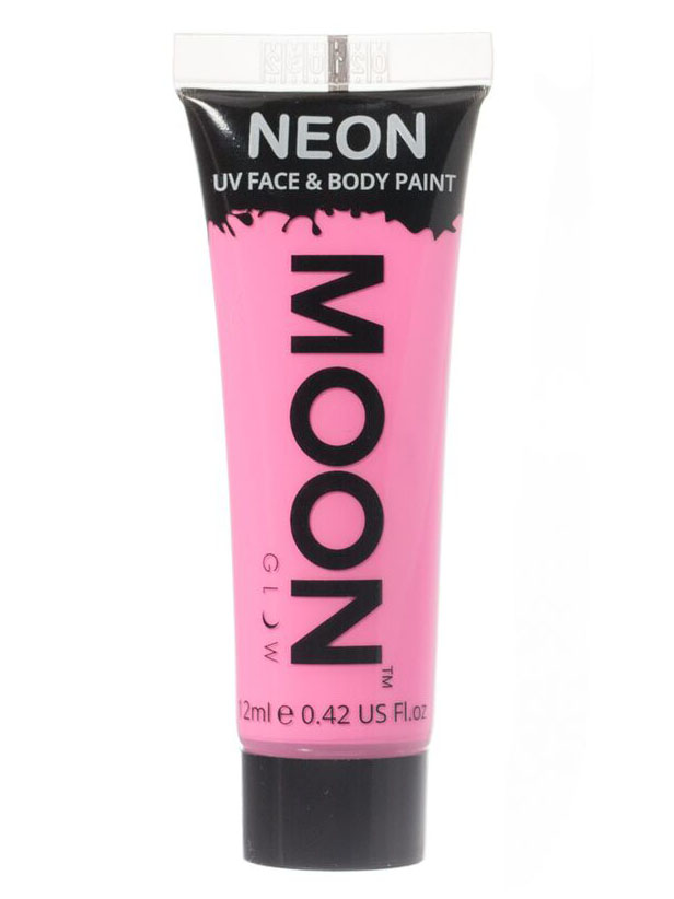65982e844d Moon Glow - Neon UV Gesicht- und Körperfarbe Schminke Makeup Bodypainting  fluoreszierend pastell rosa 12ml