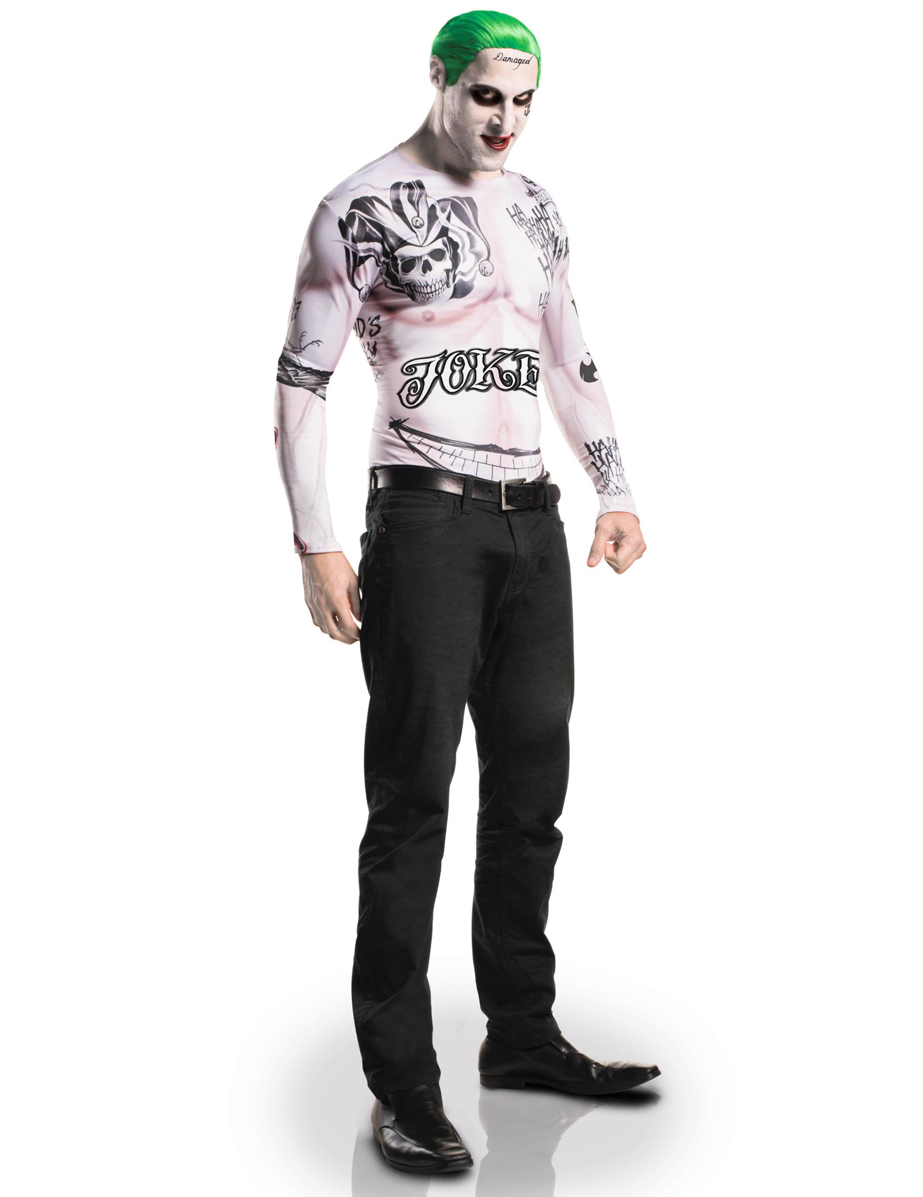 joker kostum suicide squad lizenzkostum hautfarben schwarz grun