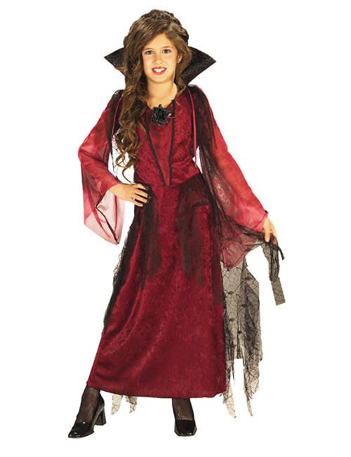 Halloween Kleider Fur Kinder.Gothic Vampir Halloween Kinderkostum Rot Schwarz