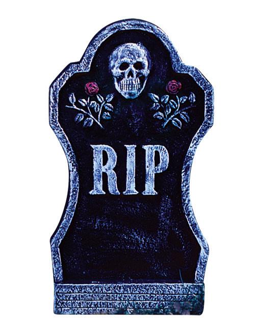 Halloween Deko Grabstein Skelett Mit Rosen Rip Schwarz Grau 21x40cm Gunstige Halloween Partydeko Bei Horrorklinik