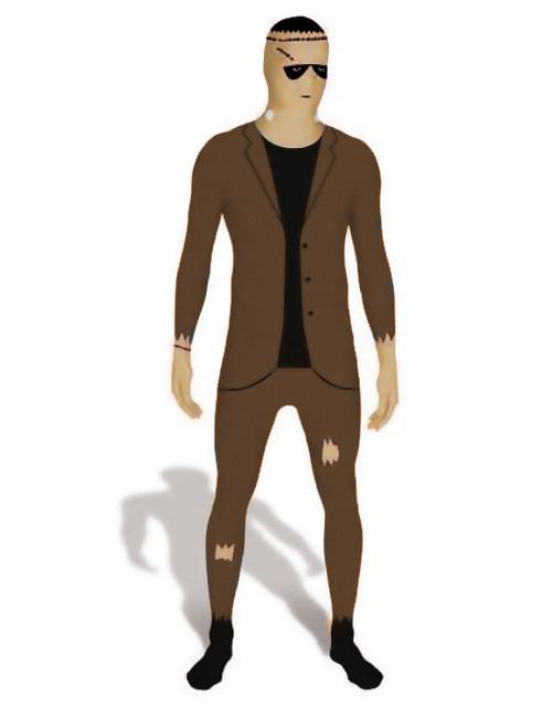 Morphsuit Monster Im Anzug Braun Beige Schwarz Gunstige Halloween