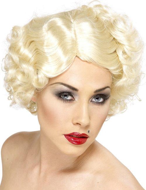 20er Can Can Hollywood Kurzhaarperücke blond