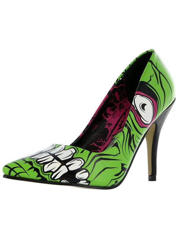 Iron Fist Zombie Stomper Heel, Damen Pumps Grün grün, Grün