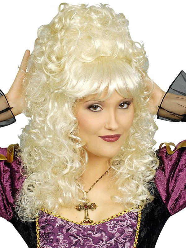 Barock Perucke Hochsteckfrisur Locken Blond Gunstige Halloween