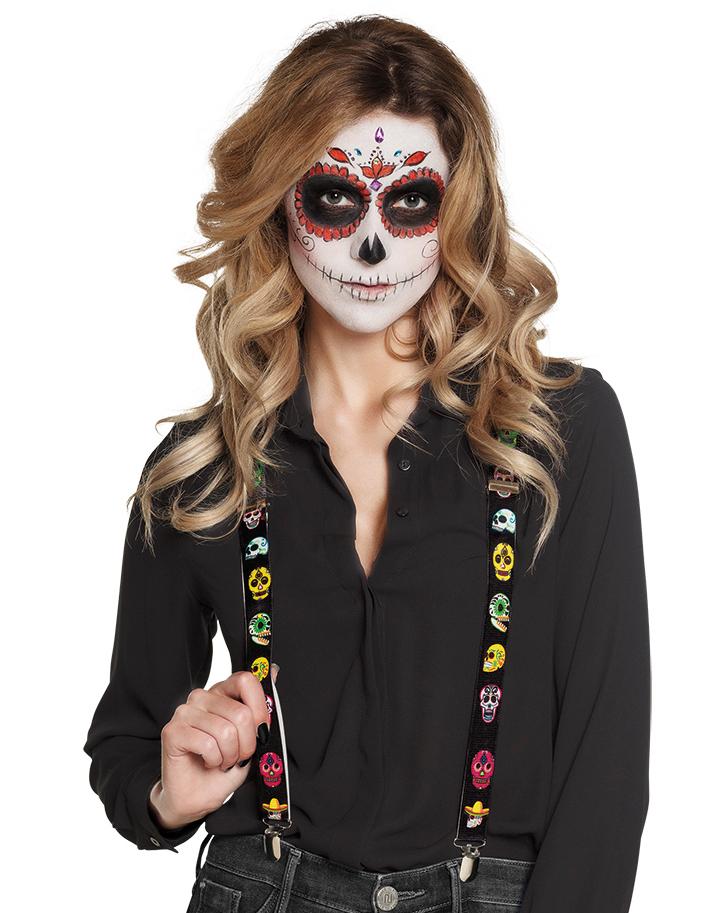 Hosenträger neon Fasching Kostüm Clown Zubehör Karneval Party