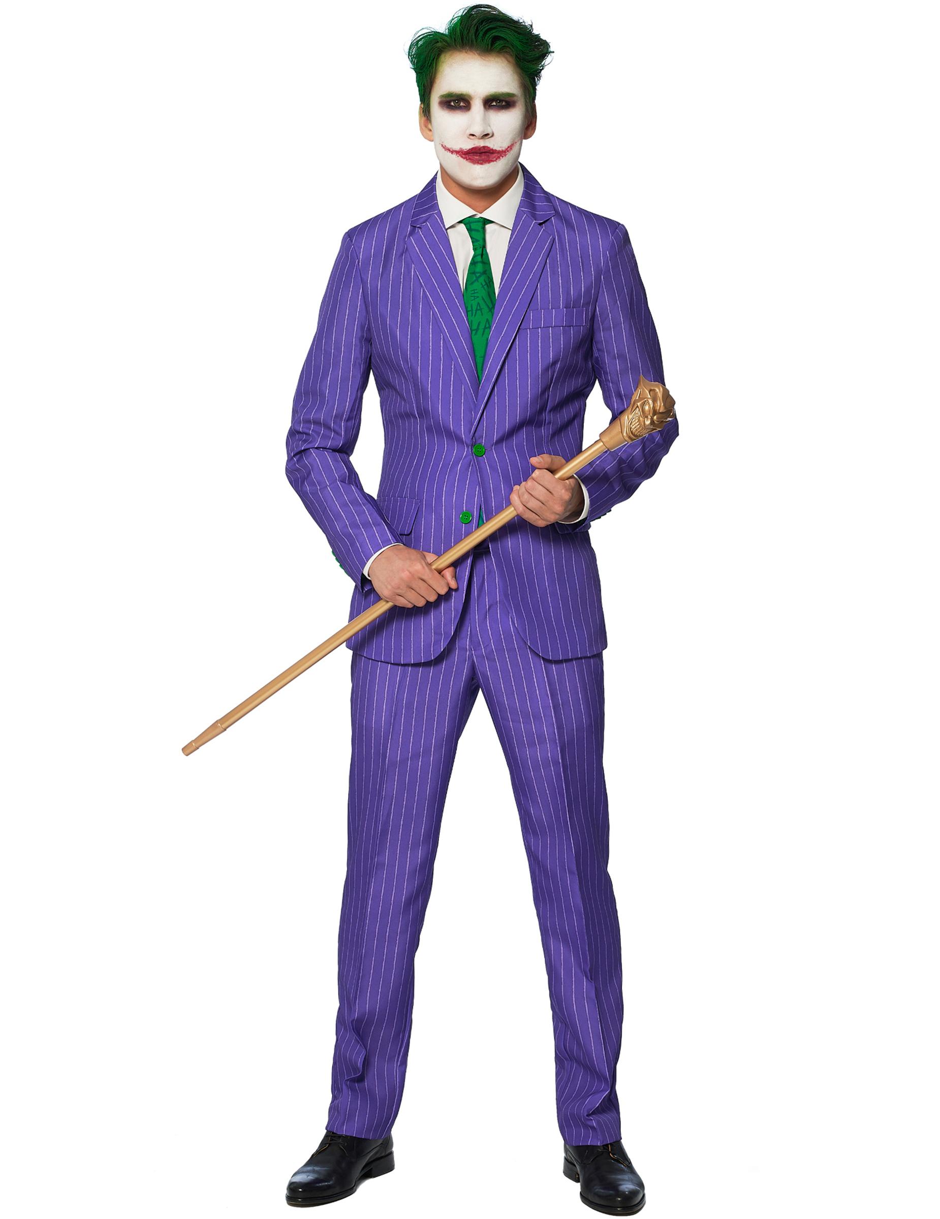 Mr. Joker™ Kostüm für Herren Suitmeister™ Halloween Kostüm violett grün