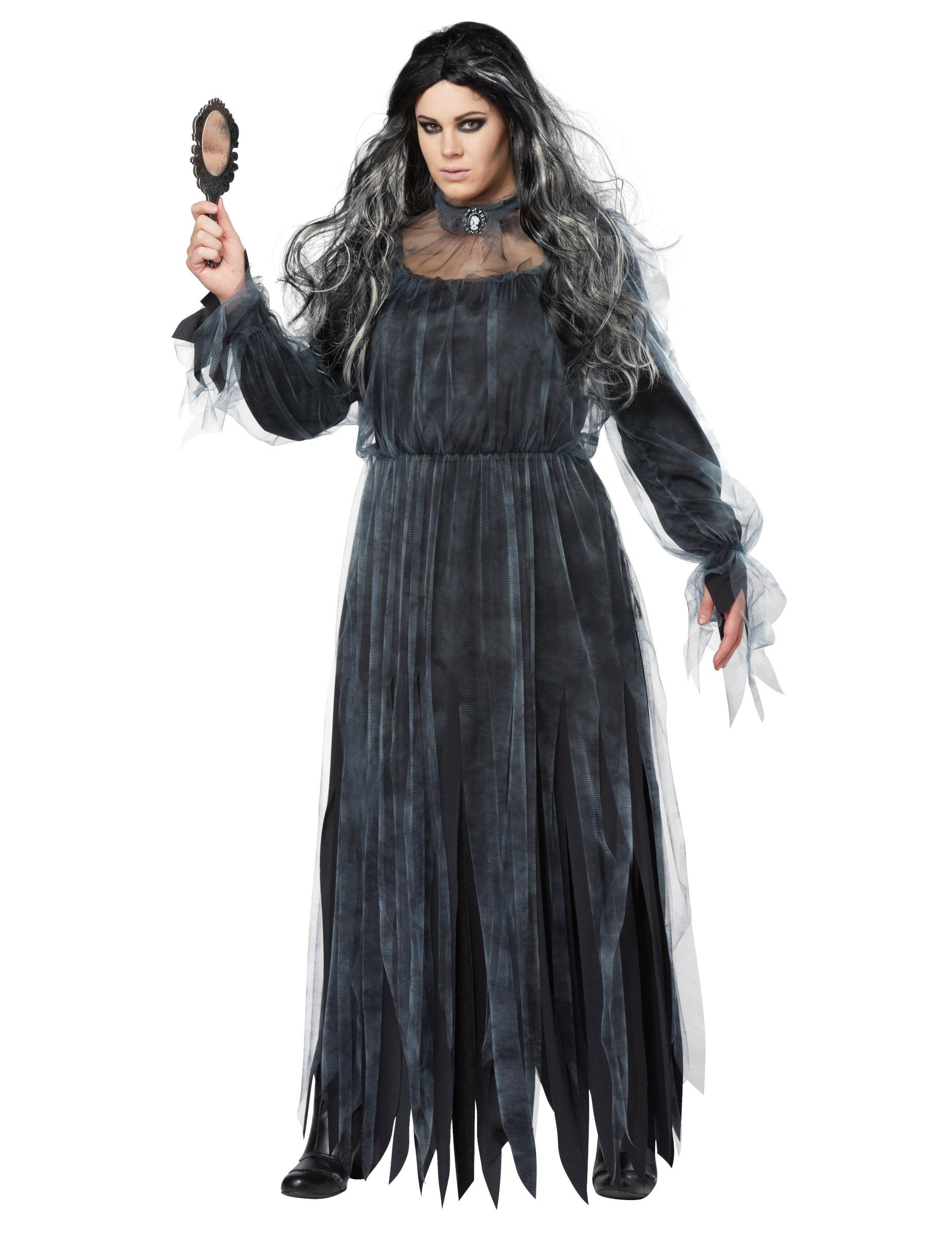 Horror Braut Damenkostüm für Halloween schwarz