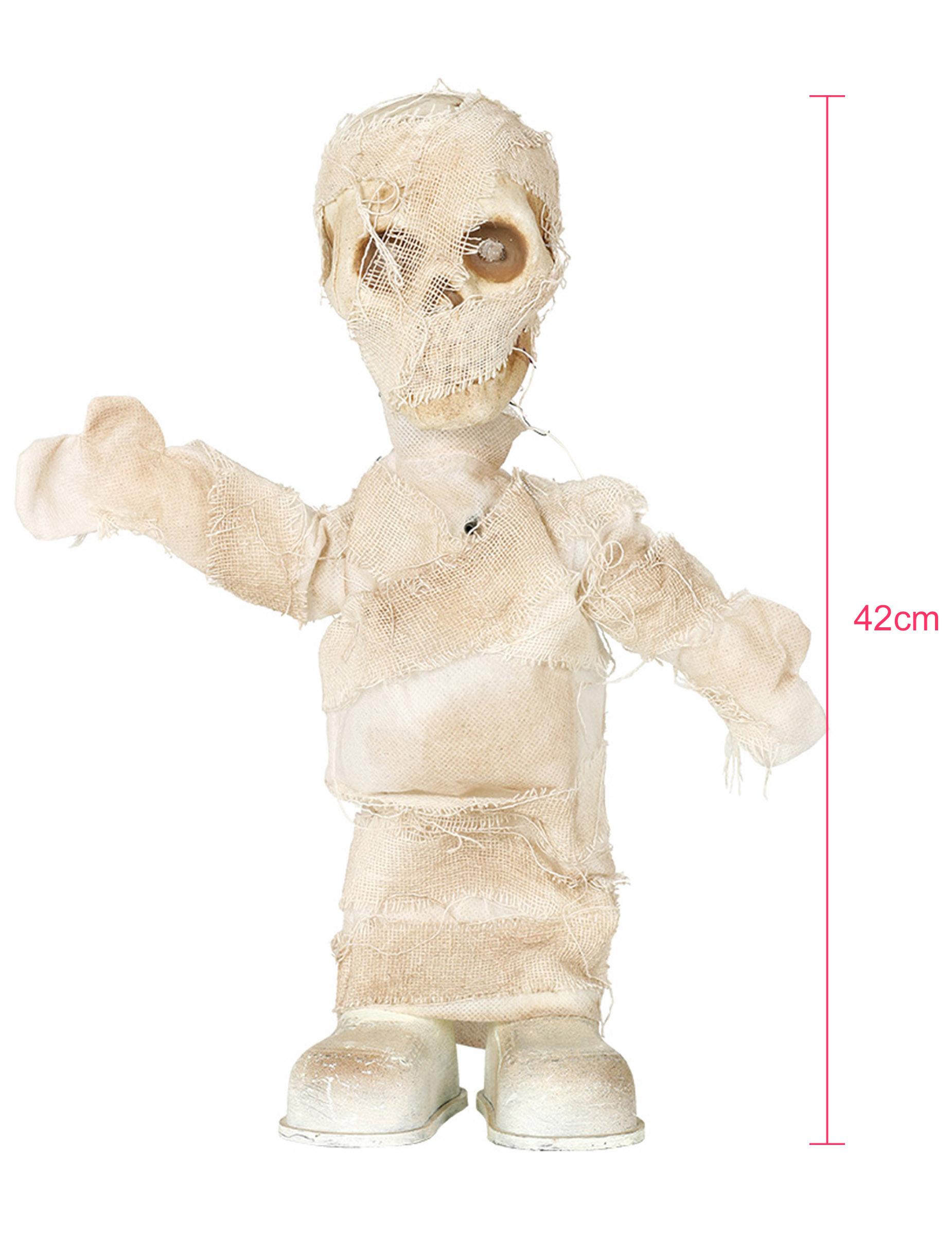 Mumien Figur Mit Licht Gerauschen Und Bewegung Halloween Deko Weiss 42 Cm Gunstige Halloween Partydeko Bei Horrorklinik