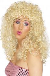 Engel Langhaar-Perücke Locken blond
