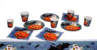 Süsses Halloween Party-Deko Set 19-teilig grau-orange