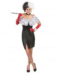 Fiese Dalmatiner-Lady Damenkostüm schwarz-weiss