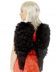 Halloweenflügel mit Federn Halloween Kostümzubehör schwarz 50x60cm