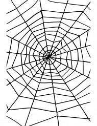 Halloween Partydeko Spinnennetz schwarz 1,50m