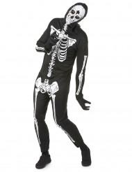 Schauriges Skelett-Halloweenkostüm schwarz-weiss