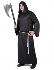 Sensenmann-Herrenkostüm Halloween-Mönchsrobe schwarz