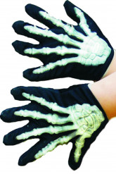 Halloween Kinder-Handschuhe Knochen-Handschuhe leuchtend