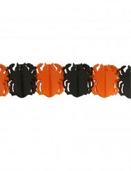Halloween-Girlande Spinnen schwarz/orange