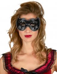 Venezianische Augenmaske schwarz-gold