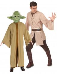Star Wars™ Paarkostüm Meister Yoda und Jedi Lizenzware beige-braun