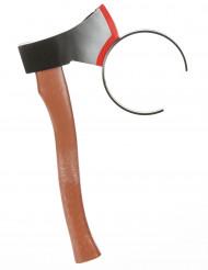 Axt im Kopf Haarreif braun-grau-rot
