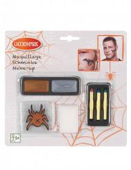 Schminkpalette inkl. Tatoos Halloween Make-Up Zubehör 7-teilig braun-silber-bunt