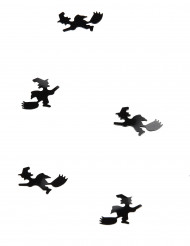 Tisch-Konfetti Halloween Fliegende Hexe schwarz 10 gr