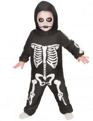 Skelett Kinderkostüm Overall schwarz-weiss