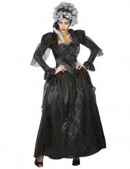 Düstere Barock-Vampirin Halloween Kostüm für Damen schwarz