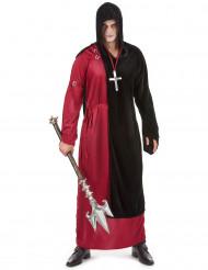 Mönch Halloween Herrenkostüm rot-schwarz