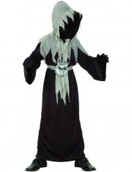 Schauriger Dämon-Mönch Halloween-Kinderkostüm schwarz-grau