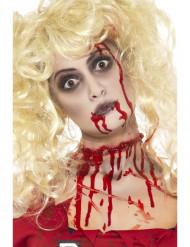Zombie Make Up Set 3-teilig mit Blutkapseln schwarz-weiss-rot 8,7g