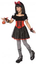 Vergiftete Märchenprinzessin Halloween-Kinderkostüm schwarz-orange