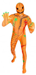 Morphsuit Halloween Kürbis Monster orange