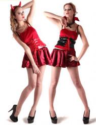 Vampirin/Teufelin Halloween Wende-Kostüm für Damen rot-schwarz